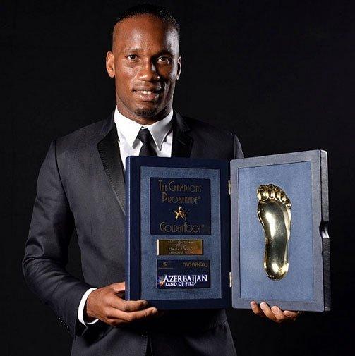 Drogba 'Altın Ayak' ödülünü kazandı