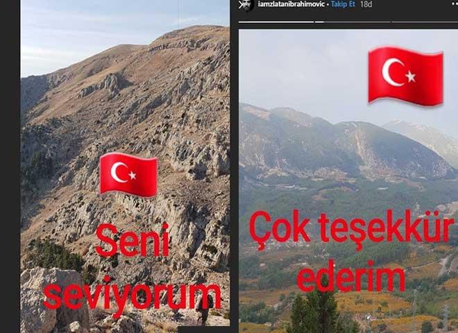 Dünya yıldızı Ibrahimoviç'ten Türkiye paylaşımları!