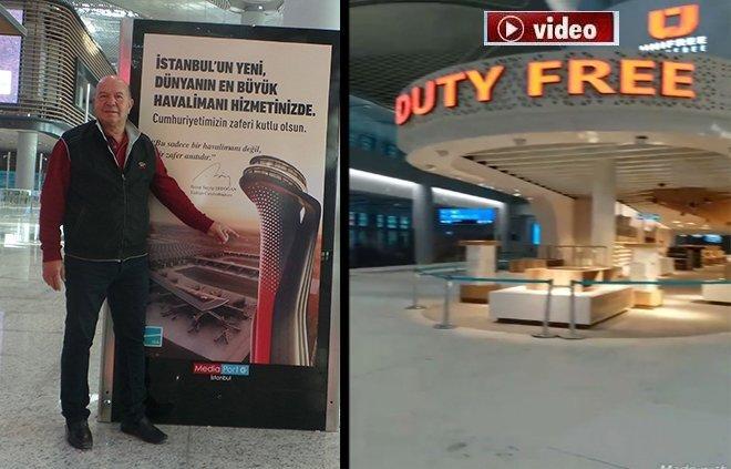Duty Free mağazaları ilk kez görüntülendi!video