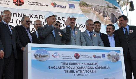 Edirne-Karaağaç Bağlantı Yolu temeli atıldı
