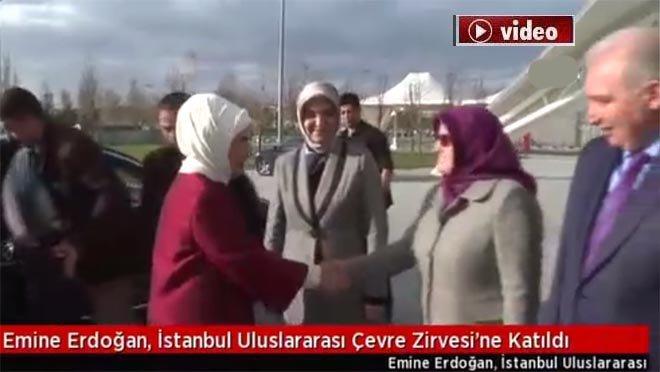 Emine Erdoğan, Çevre Zirvesi'ne katıldı