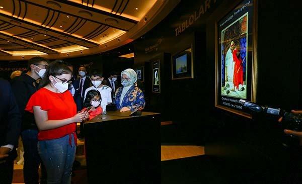 Emine Erdoğan, Dijital resim sergisini açtı#video