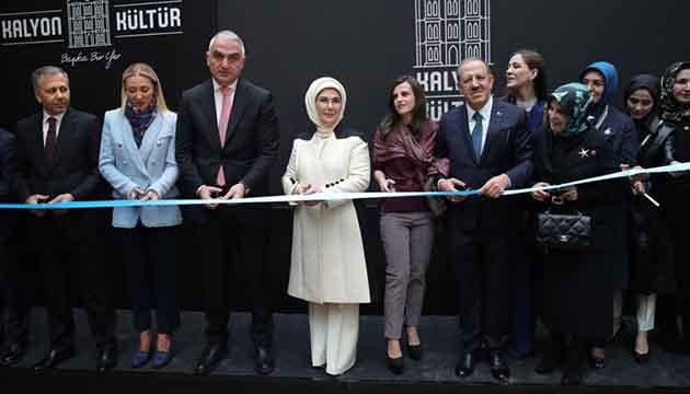 """video Emine Erdoğan """"Kalyon Kültür""""ün açılışına katıldı"""