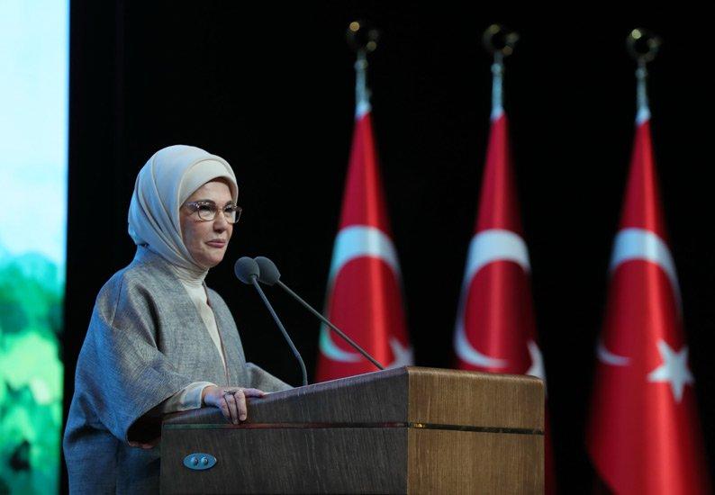 Emine Erdoğan, Sıfır Atık Kısa Film Ödül Töreni'ne katıldı#video
