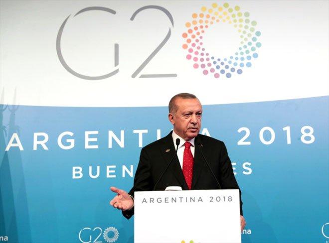 Erdoğan'dan G-20 zirvesi sonrası kritik açıklama!