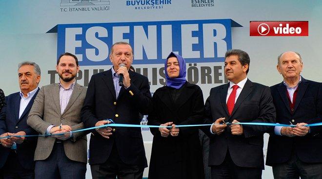 Erdoğan, Esenler'de toplu açılış törenine katıldı