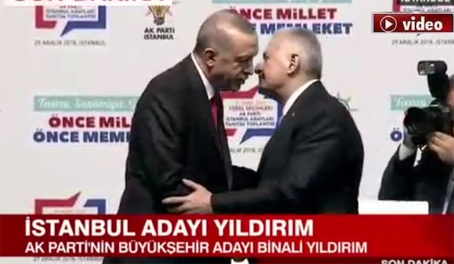 Erdoğan: İstanbul Adayımız Binali Yıldırım!video