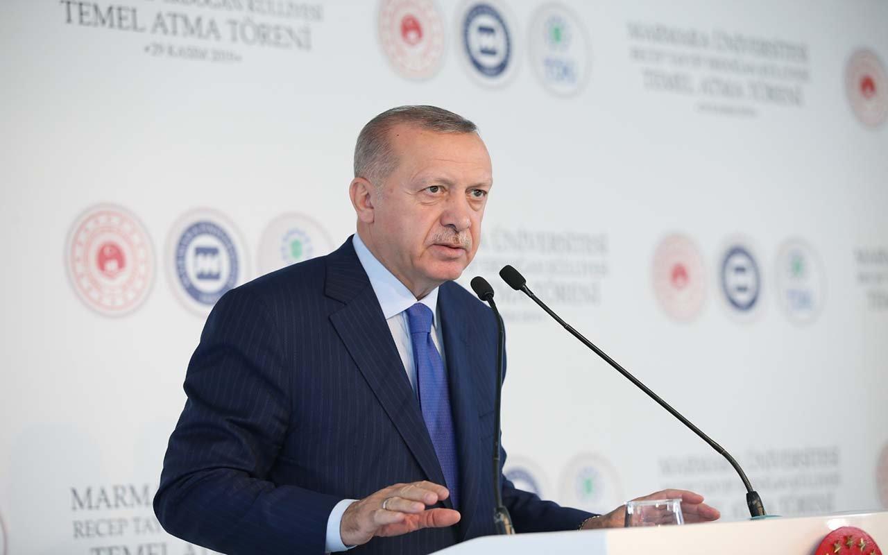 Erdoğan Külliyesi Temel Atma Töreni'nde konuşma yaptı