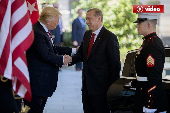 Trump Erdoğan'ı Saray Kapısında Karşıladı video