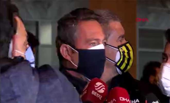 Fenerbahçe Başkanı Ali Koç maç sonu konuştu(video)