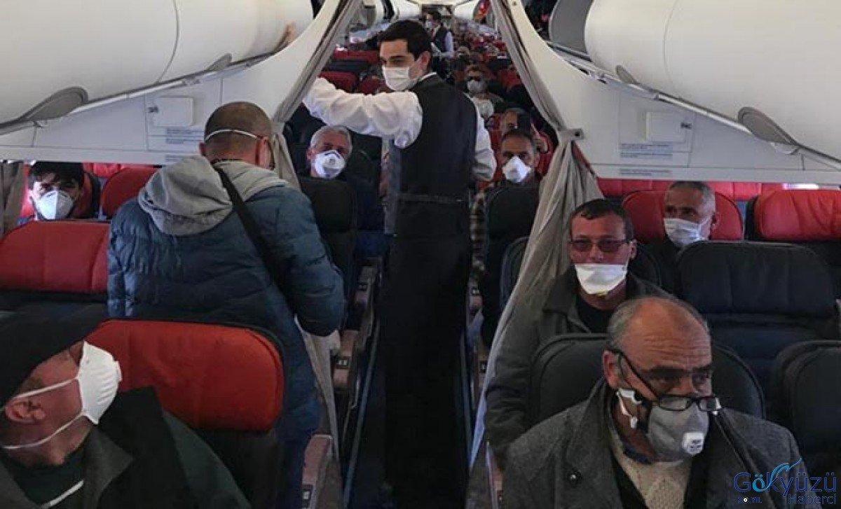 Fransa'dan gelen 144 kişi, Kırıkakle'de öğrenci yurduna yeleştirildi