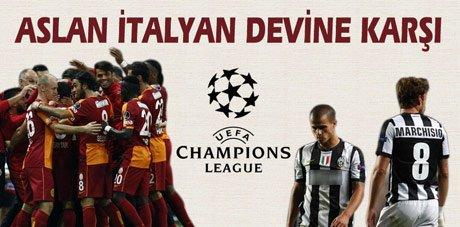 Galatasaray, İtalyan devi Juventus'a karşı