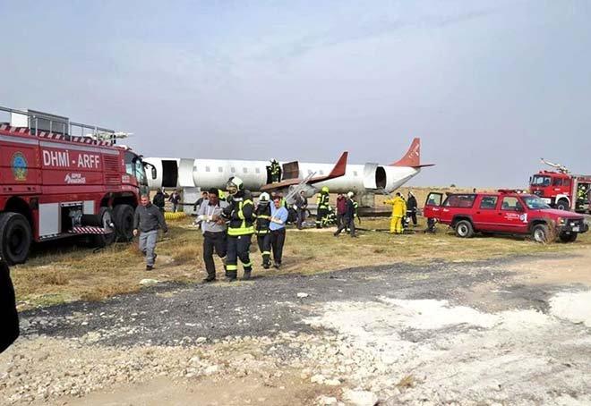 GAP Havalimanı'nda uçak yangını tatbikatı