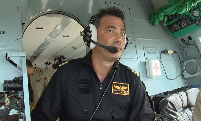 Gelibolu'daki yangına müdahale eden helikopter pilotu anlattı