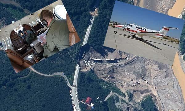 Giresun semalarında askeri uçaklarla hasar tespiti