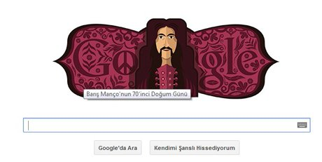 Google, Barış Manço'yu unutmadı.