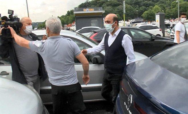 Güvenlik görevlisi basın mensuplarına saldırdı#video