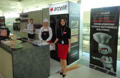 Havalimanınında Arçelik mutfağı