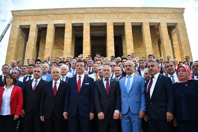 İBB Başkanı Ekrem İmamoğlu Anıtkabir'de