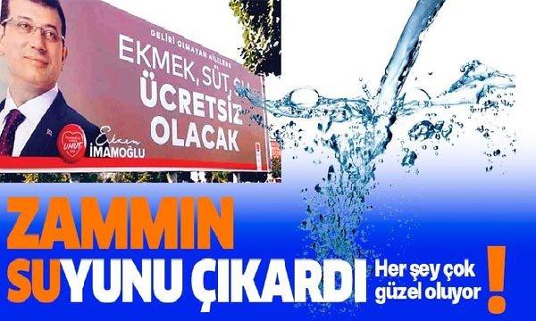 İBB'den suya yüzde 12.6 zam!