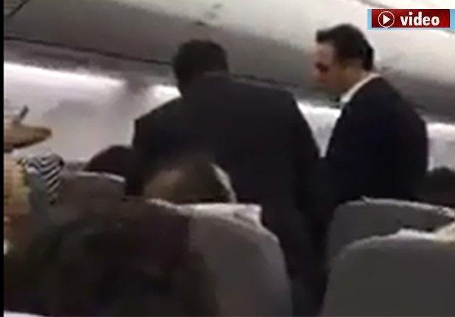 İlker Aycı,Uçakta yolcuyla tartıştı!!video