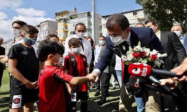 İmamoğlu'ndan  Karagümrükspor'a tebrik ziyareti
