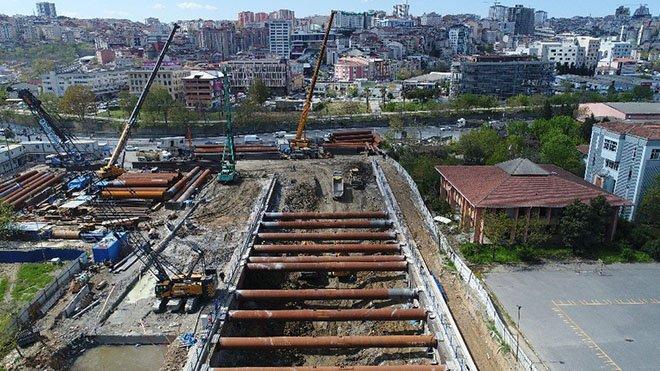 İstanbul Havalimanı metro hattı havadan görüntülendi!