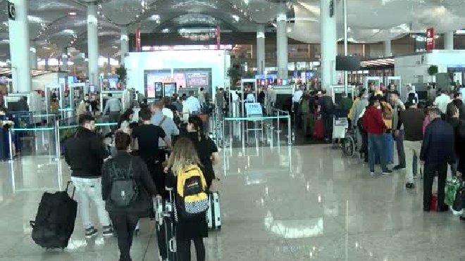 İstanbul Havalimanı'nda ara tatil hareketliliği