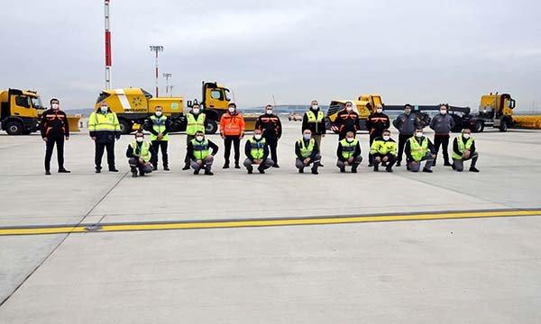 İstanbul Havalimanı'nda kış hazırlıkları tamamlandı(video)