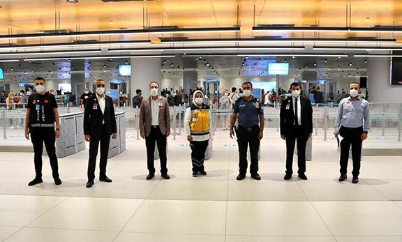 İstanbul Havalimanı'nda koronavirüs denetimi(video)