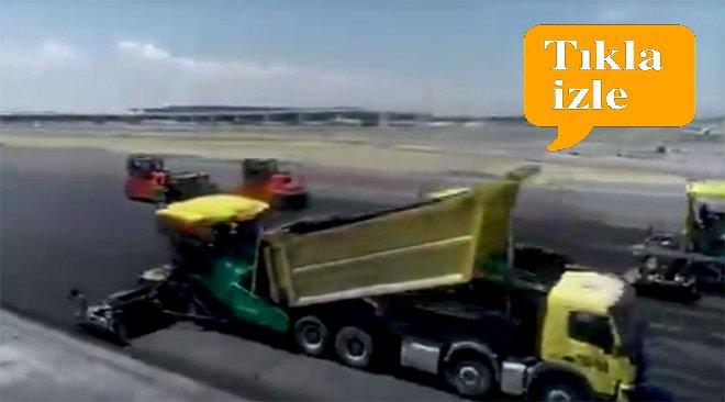 """İstanbul Havalimanı """"Pistler çöküyor"""" iddiaları"""