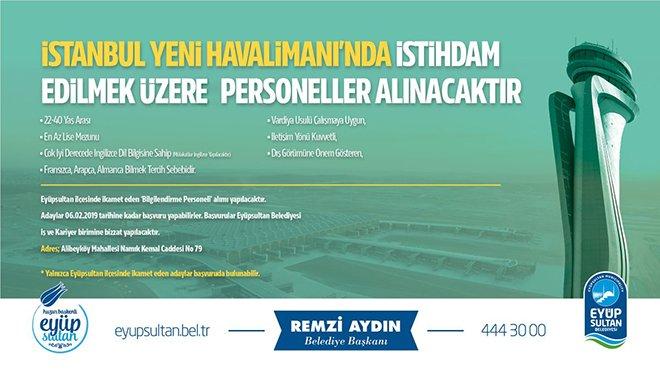 İstanbul Havalimanılise mezunu personel arıyor!