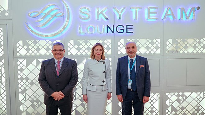 SkyTeam Lounge,İstanbul Havalimanı'nda açıldı.