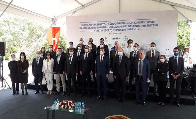 """İSTON Hadımköy Fabrikası'na """"Altın""""sürdürülebilirlik belgesi"""