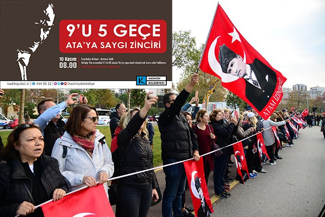 Kadıköy'de 10 Kasım'da 'ATA'ya saygı zinciri'