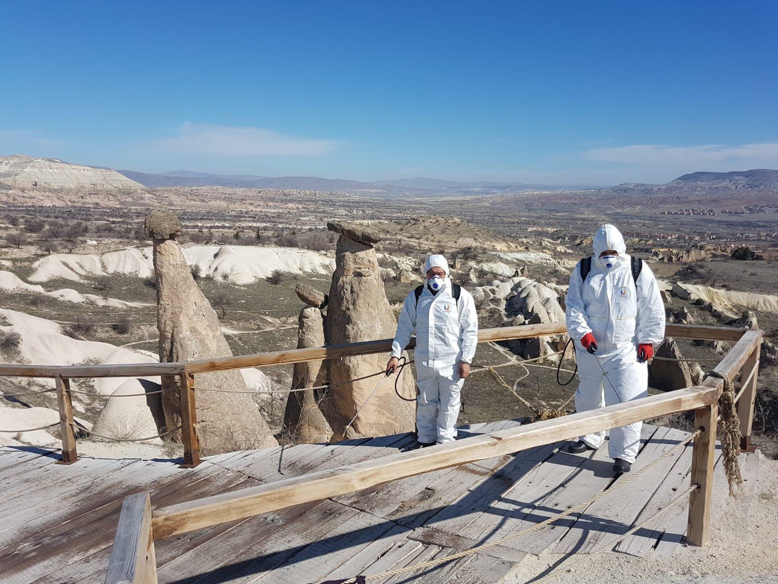 Kapadokya'da virüs temizliği