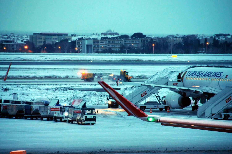 Kar Yağışı Hava Trafiğini Vurdu