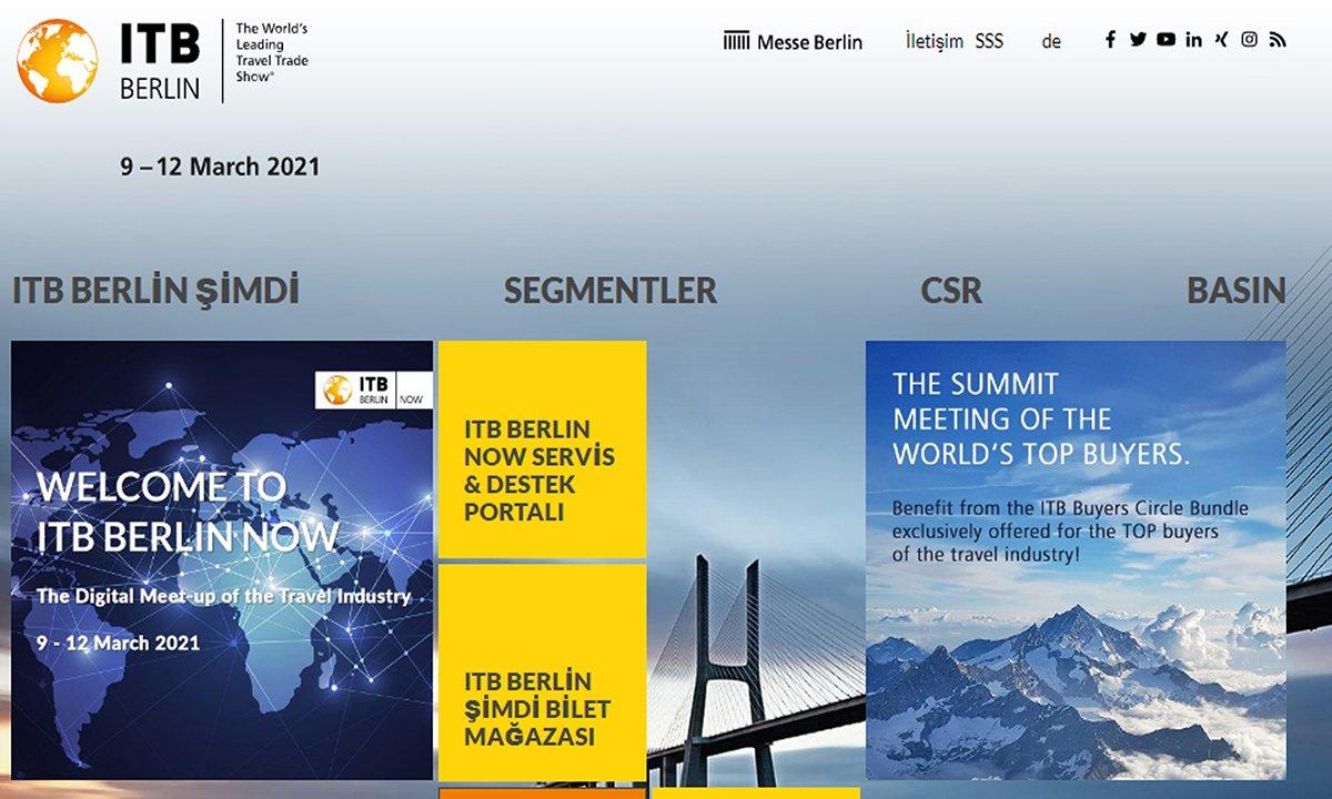 Katılım ücreti 100 euro olan ITB Berlin'in sanal fuarı ilgi görmedi