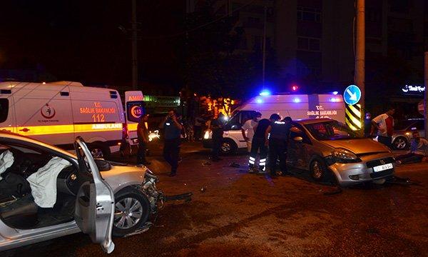 Kaza yapan otomobil sürücüsü 1.46 promil alkollü çıktı