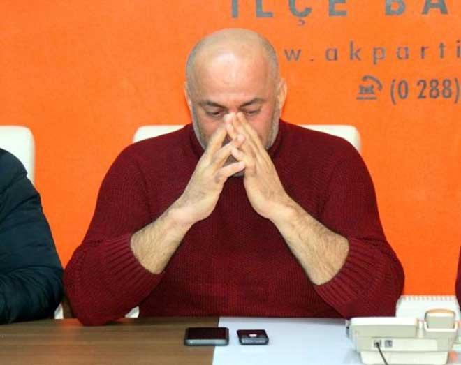 Kırklareli Babaeski'de gözyaşlarıyla istifa!