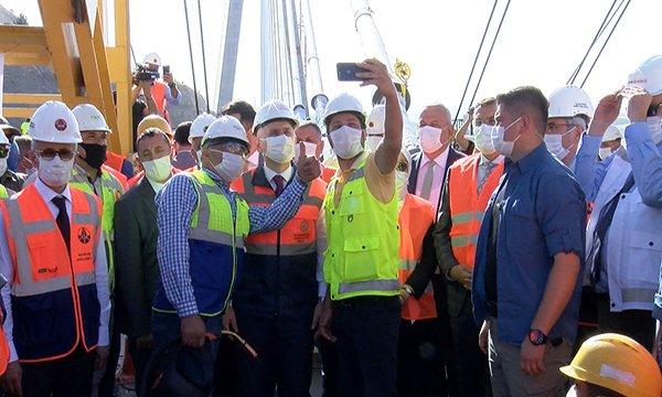 Kömürhan Köprüsü'nün son kaynağı atıldı(video)