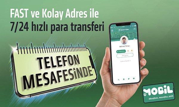 Kuveyt Türk,IBAN'sız 7/24 para transferini başlattı