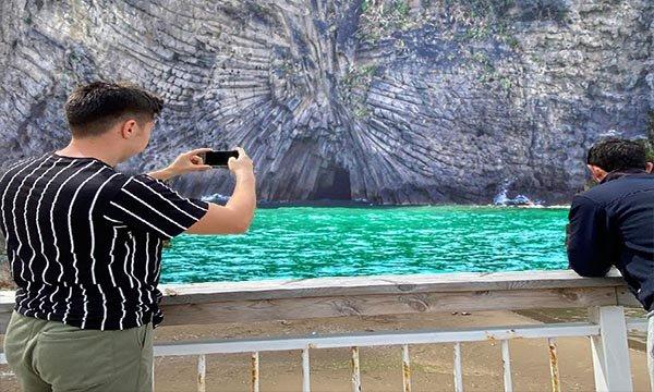 Lav sütunları 3 yılda 200 bin turist ağırladı