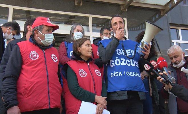 Maltepe Belediyesi'nde grev yapan işçilerden açıklama