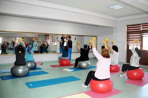 Mamak'ta kadınlara spor zamanı