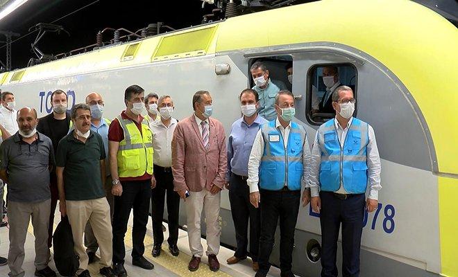 Marmaray'dan 100'üncü yük treni geçti
