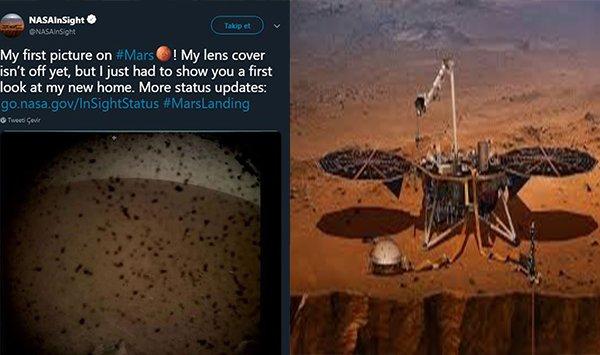 Mars kaşifi 'Insight' iniş yaptı!