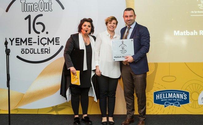 Matbah Restaurant'a 'En İyiOsmanlıMutfağı' ödülü