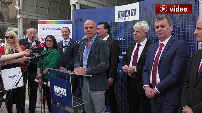 Onur Air Ohrid'e ilk uçuşunu gerçekleştirdi!video