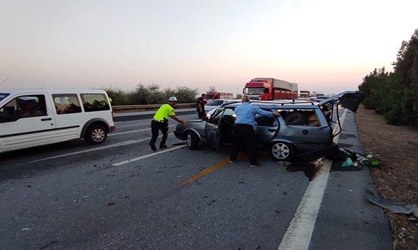 Otoyol'da zincirleme kaza: 5 yaralı